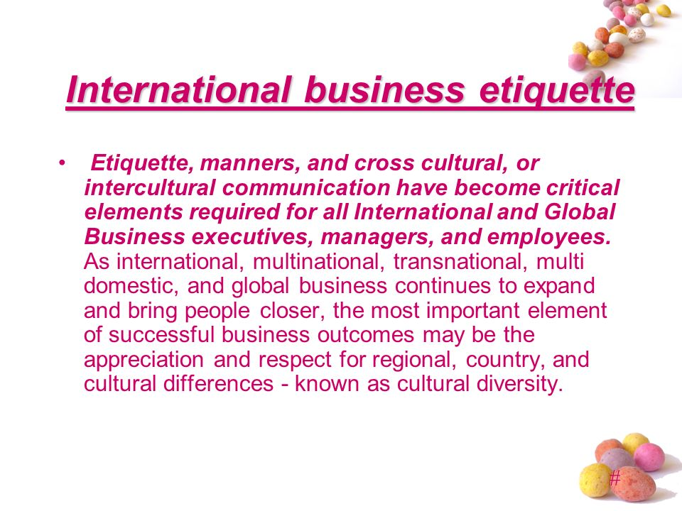 he importance of manners and etiquette in corporate environment Business etiquette and manners each time conduct oneself in a business environment business etiquette is how one etiquetteimportance of good manners.