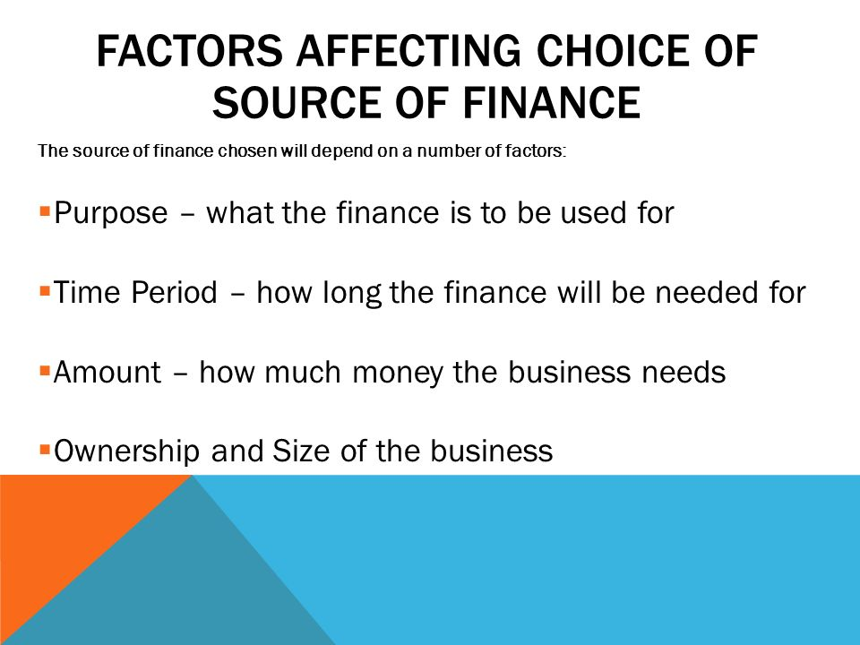source of finance The acquisition of assets - particularly expensive capital equipment - is a major commitment for many businesses how that acquisition is funded requires.