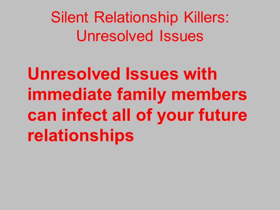 relationship problems with family members