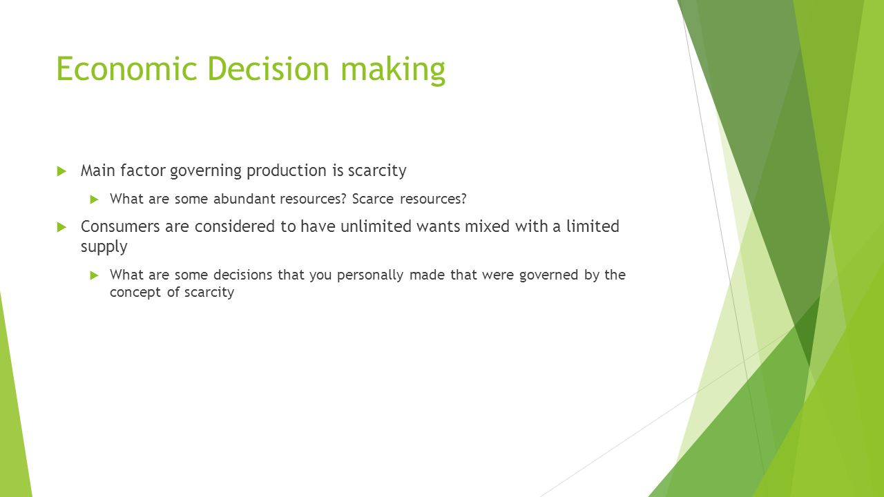 economic decision How can the answer be improved.
