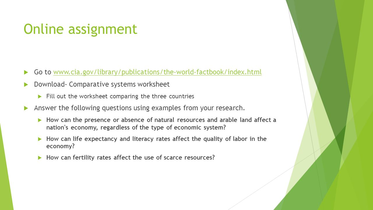 comparative review assignment