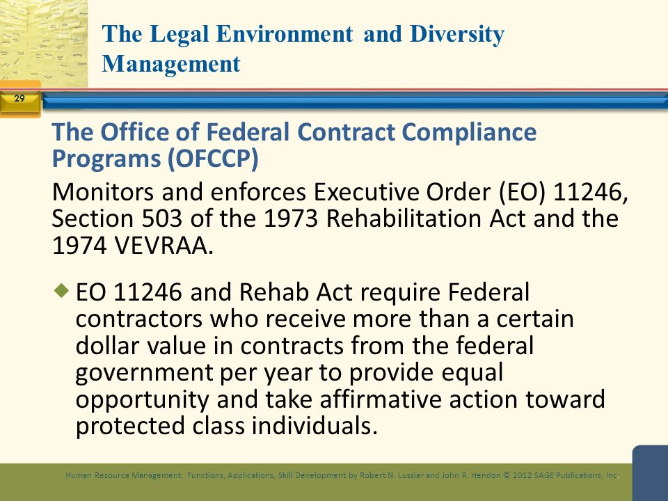 legal environment and equal opportunity