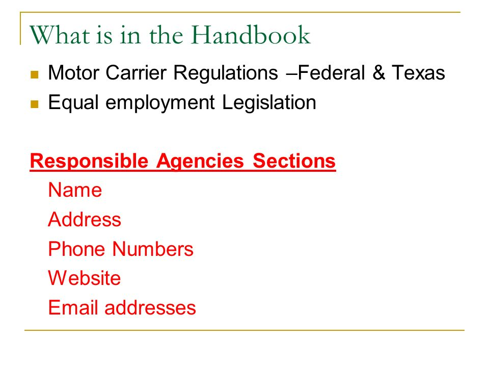 Emerging legal issues in agriculture ppt video online for Motor carrier number lookup