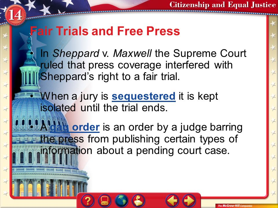 sheppard v maxwell landmark case Sheppard v maxwell (1966) a supreme court case that examined the rights of the press as outlined by the first amendment when weighted against a defendant's right to fair trial as required by the 14th amendment.