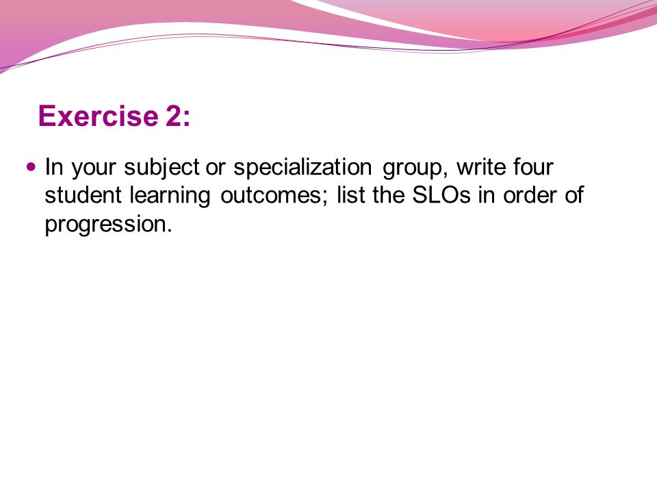 How to write learning outcomes ppt