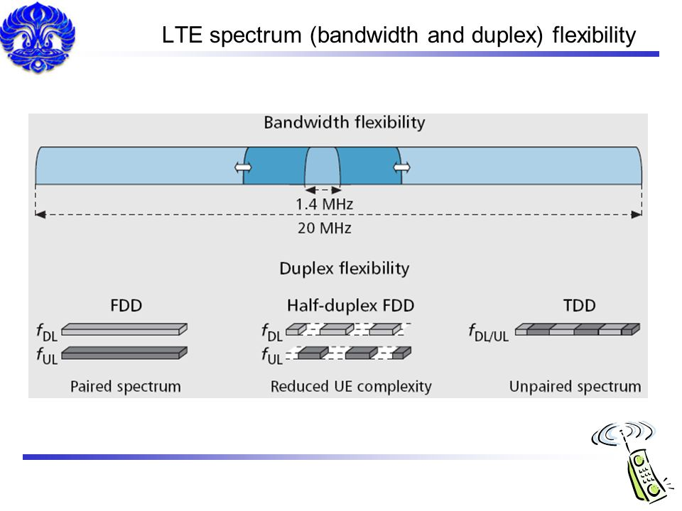LTE spectrum (bandwidth and duplex) flexibility