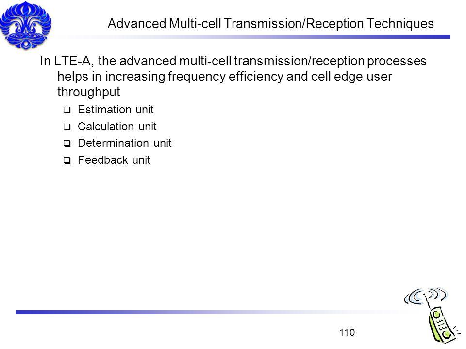 Advanced Multi-cell Transmission/Reception Techniques