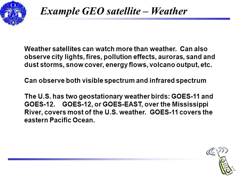 Example GEO satellite – Weather