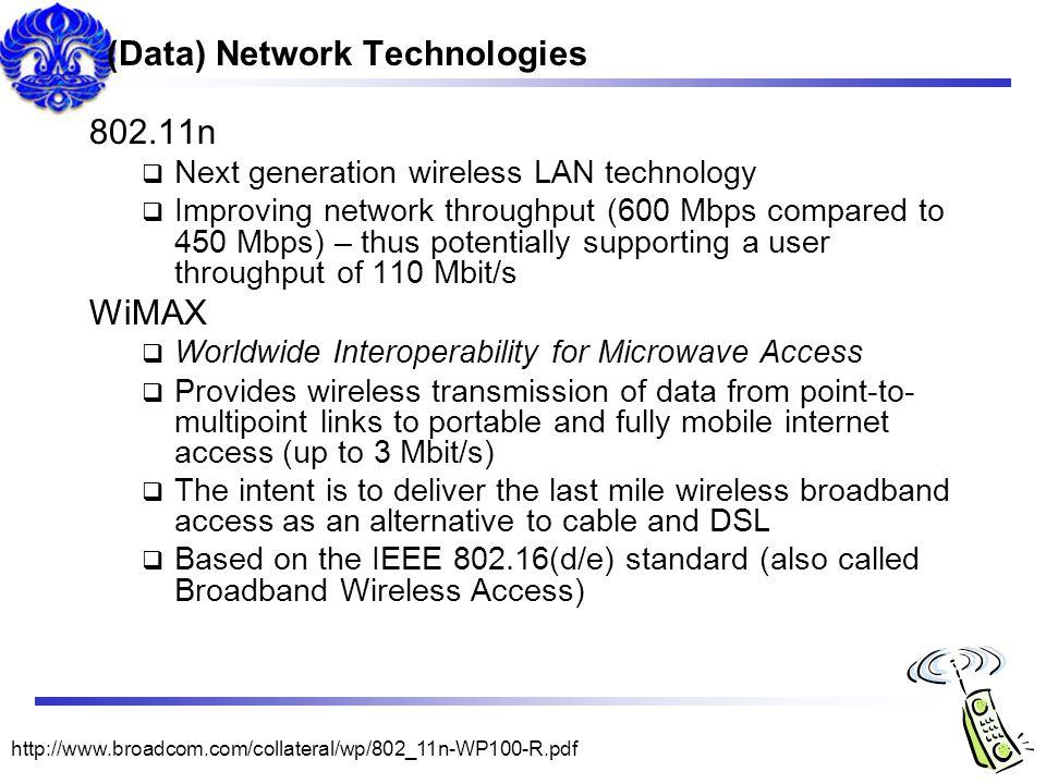 (Data) Network Technologies
