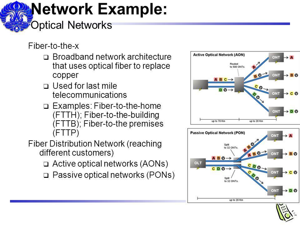 Network Example: Optical Networks