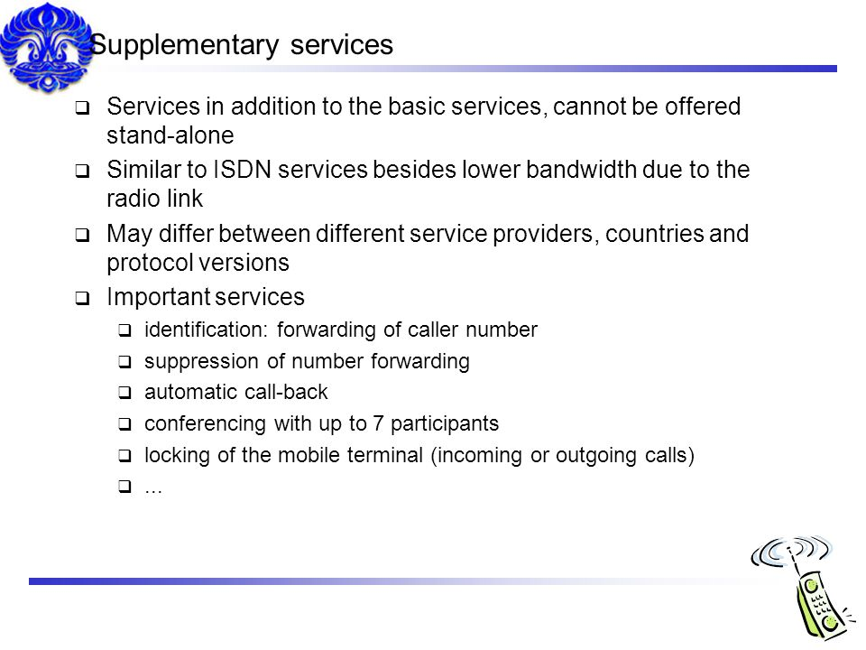 Supplementary services