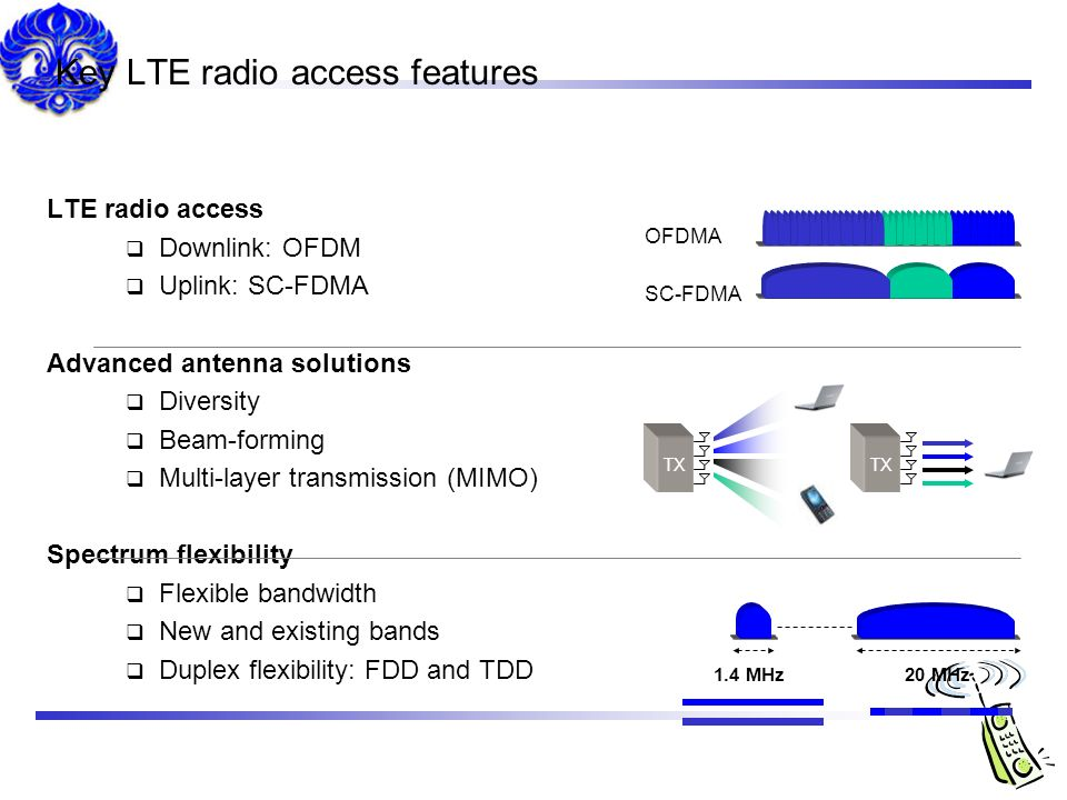 Key LTE radio access features