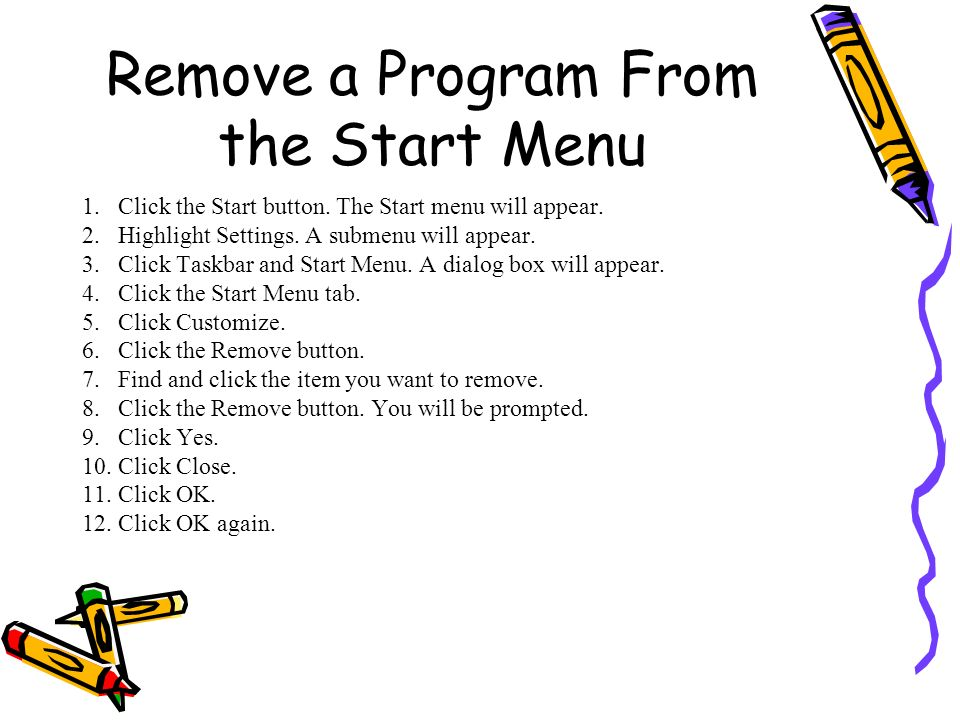 Remove a Program From the Start Menu