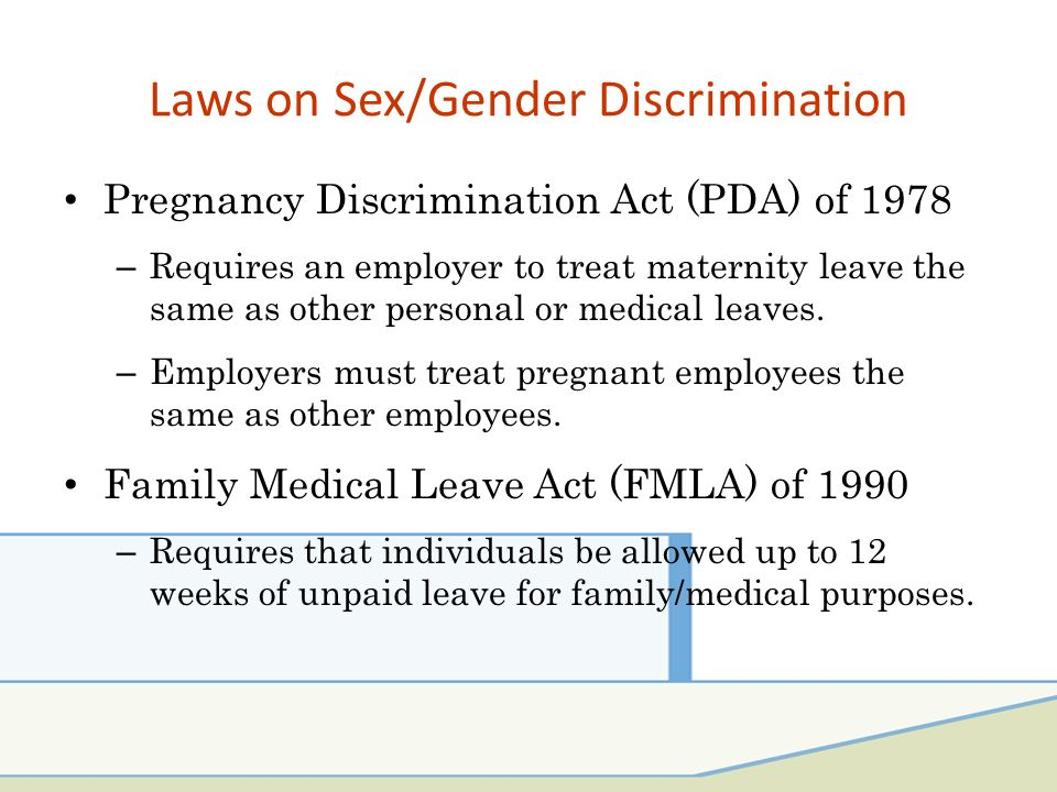 Responsibilities for sex discrimination for employers