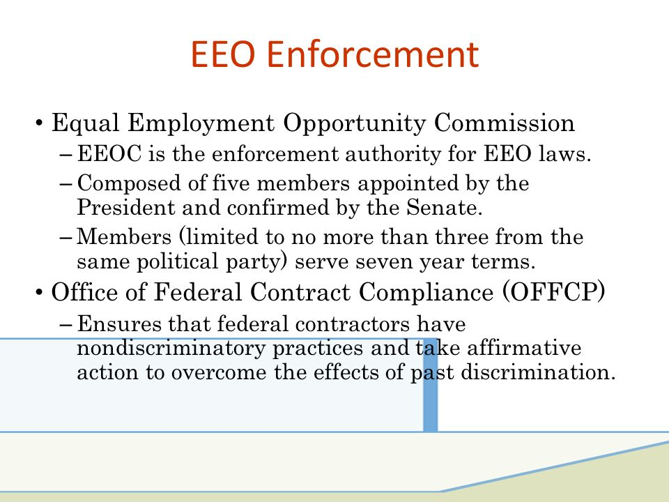 federal contractor eeo compliance Responsibility is a contract formation term that refers to the ability of a prospective contractor to perform the contract for which it has submitted an offer by law, a contracting officer must determine that an offeror is responsible before awarding it a contract.