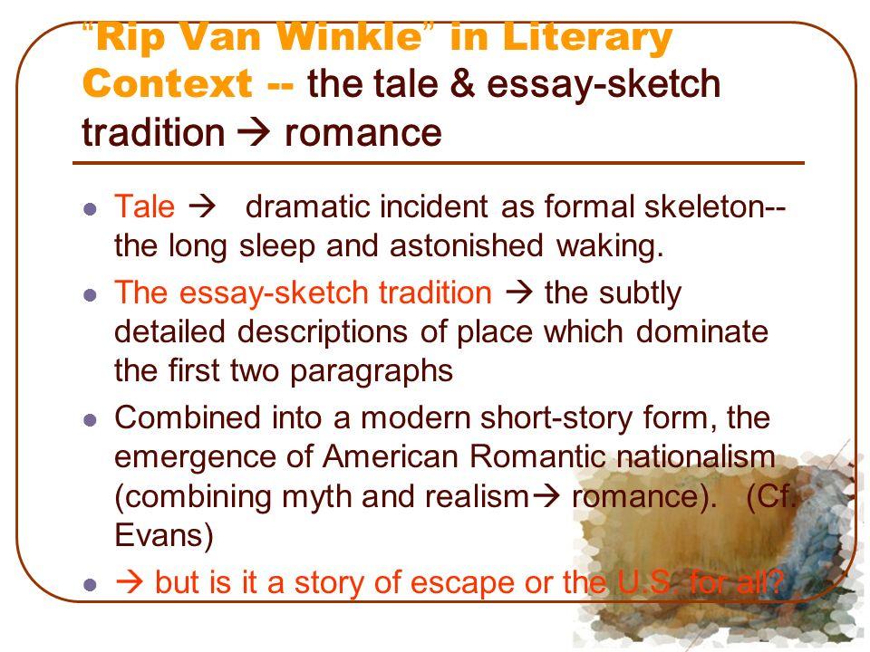 rip van winkle thesis statement