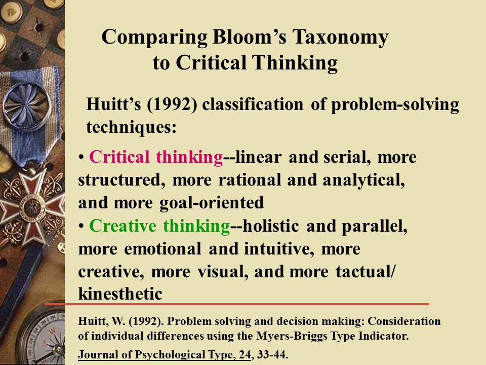 journal of critical and creative thinking Journal of instructional pedagogies page 1 improving students' critical thinking, creativity, and communication skills critical thinking.