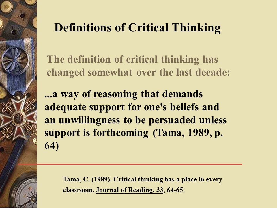 Critical Thinking In Education SBthinking
