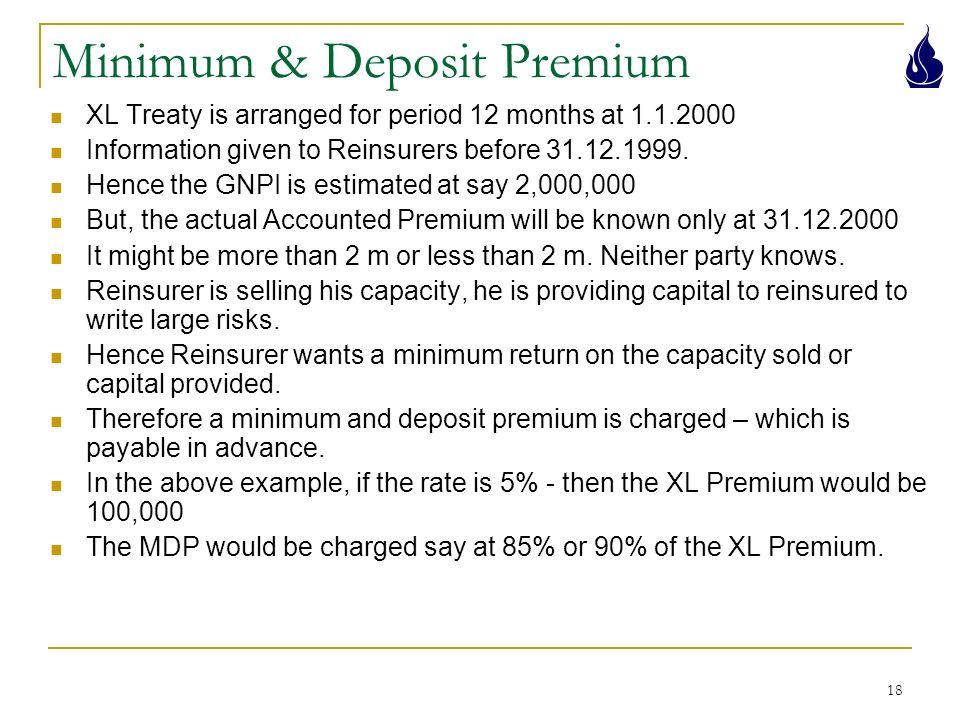 Minimum deposit