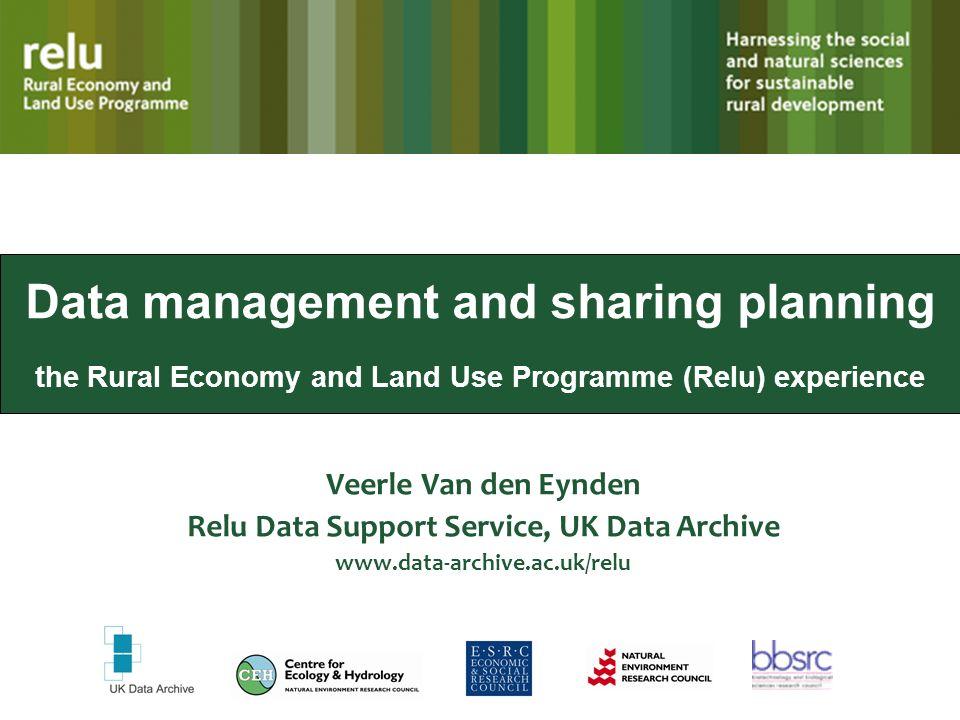 Relu Data Support Service, UK Data Archive