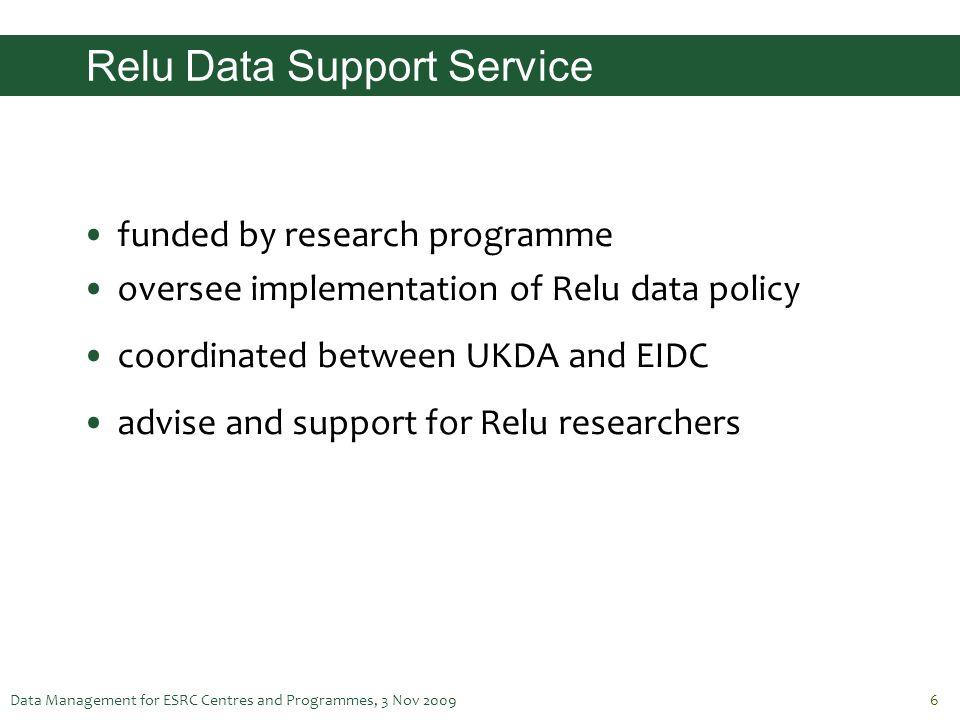 Relu Data Support Service