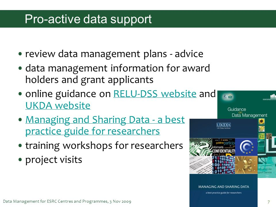 Pro-active data support