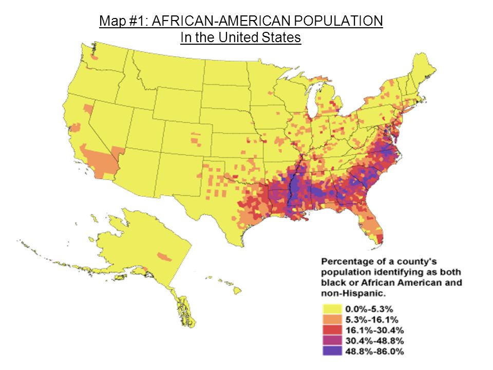40 Map 1 African American Population In The United States