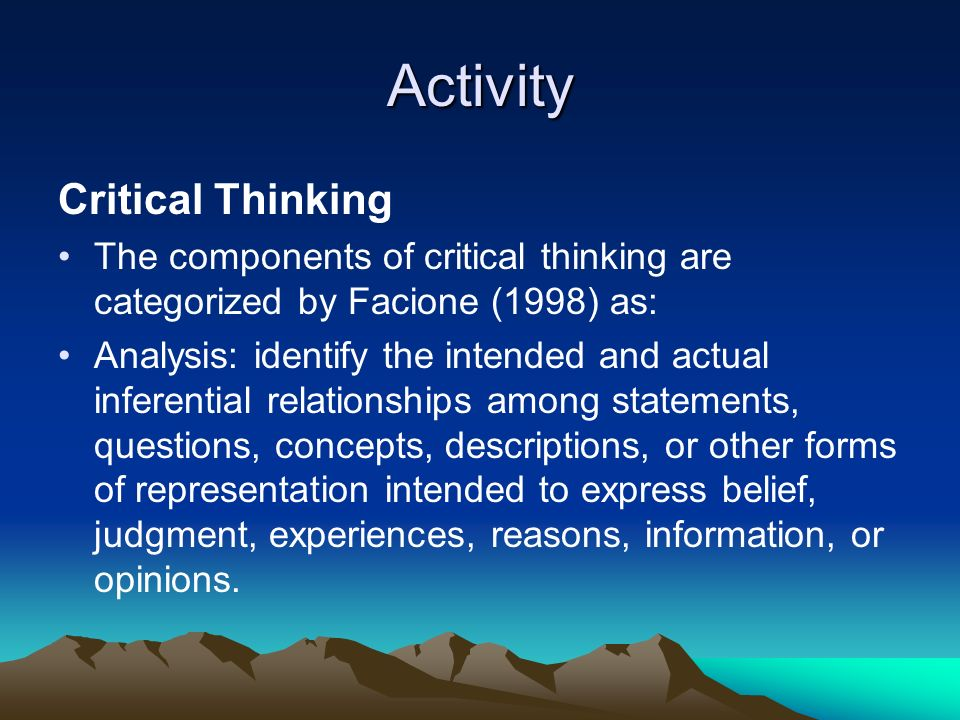 significance of critical thinking in learning Generating critical thinking critical questions  meaning and significance it  'critical thinking', learning development,.