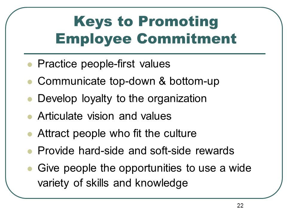 Keys to Promoting Employee Commitment