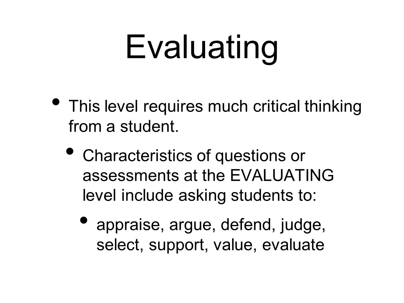 A Level Critical Thinking