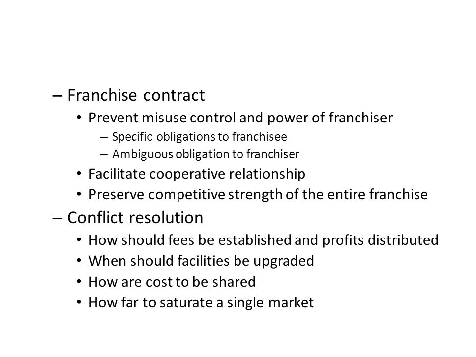 18 Franchise Contract Conflict Resolution