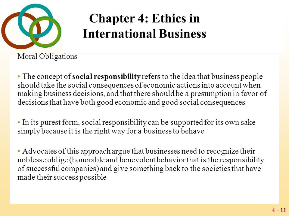 The concept of theoretical approaches to business ethics