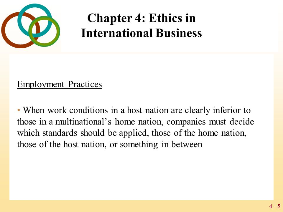 ethics in international business 2015-12-13 international business ethics has a number of open questions and dilemmas today it is characterized by the following elements: • every culture and.