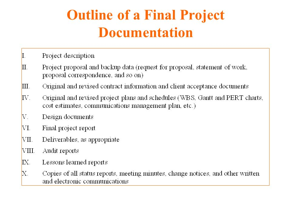 final group project outline Project plan outline section description responsible sources introduction purpose, background, scope and application, related documents sow, project charter,.