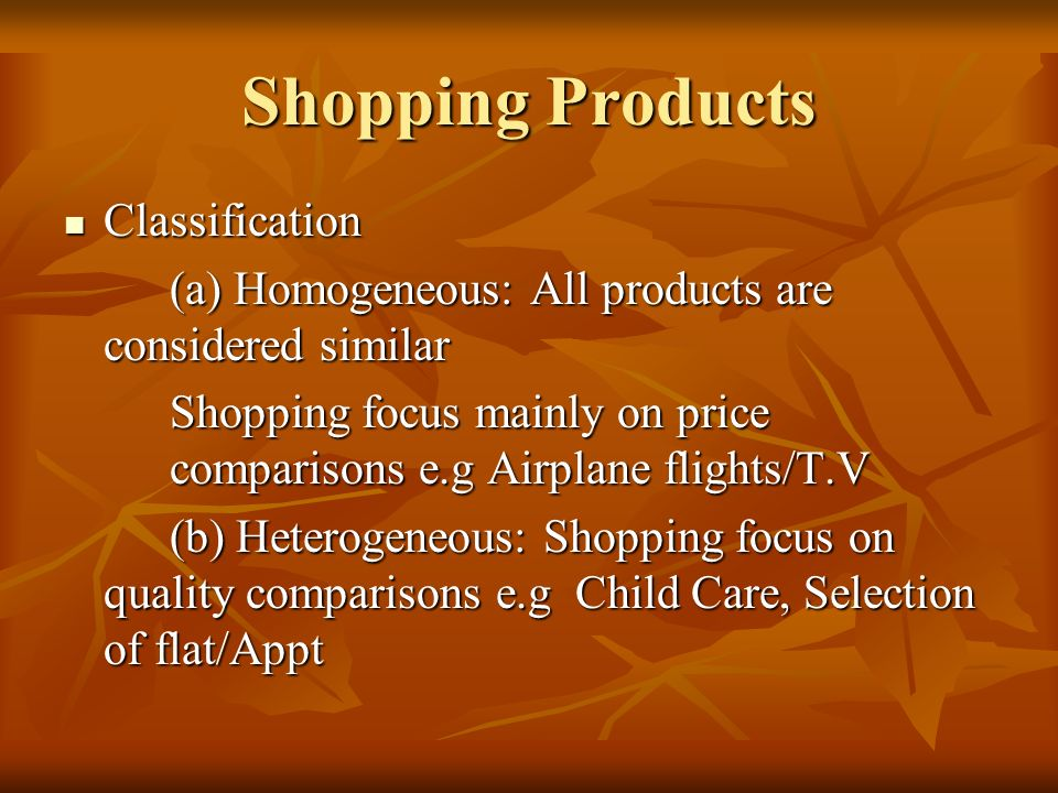 Shopping Products Classification