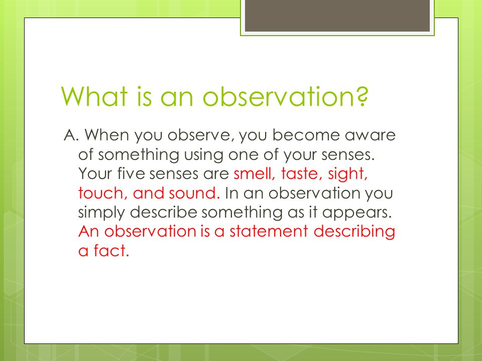 What is Science? & Observation vs. Inference - ppt download