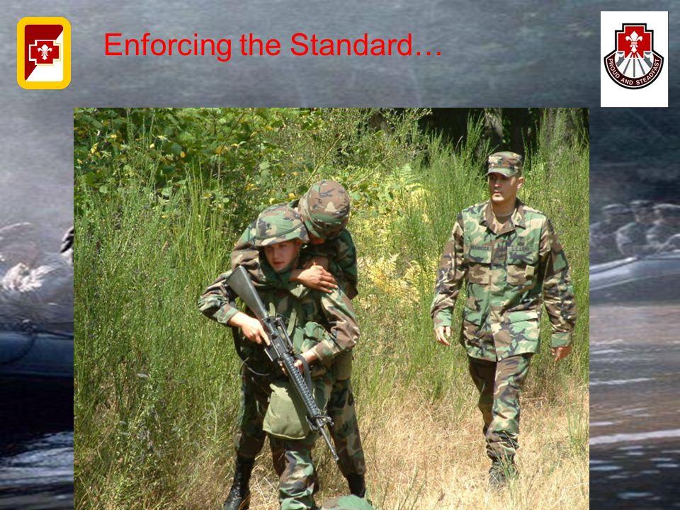 Enforcing the Standard…