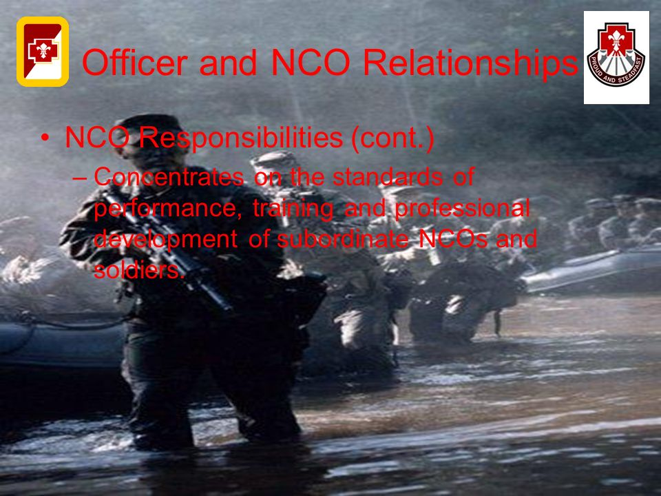 Officer and NCO Relationships