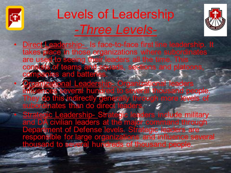 Levels of Leadership -Three Levels-