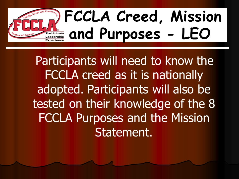 What is FCCLA? Family, Career and Community Leaders of America ...