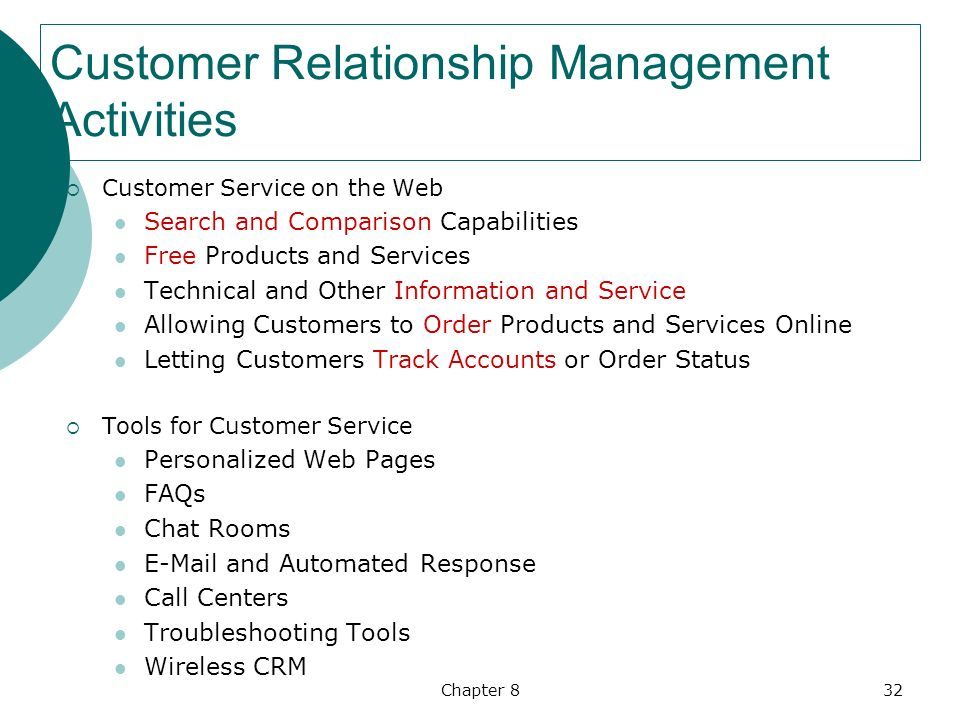 customer relationship and service management