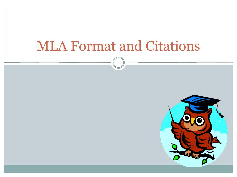 what is a mla format