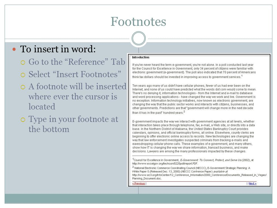 Using footnote in essays
