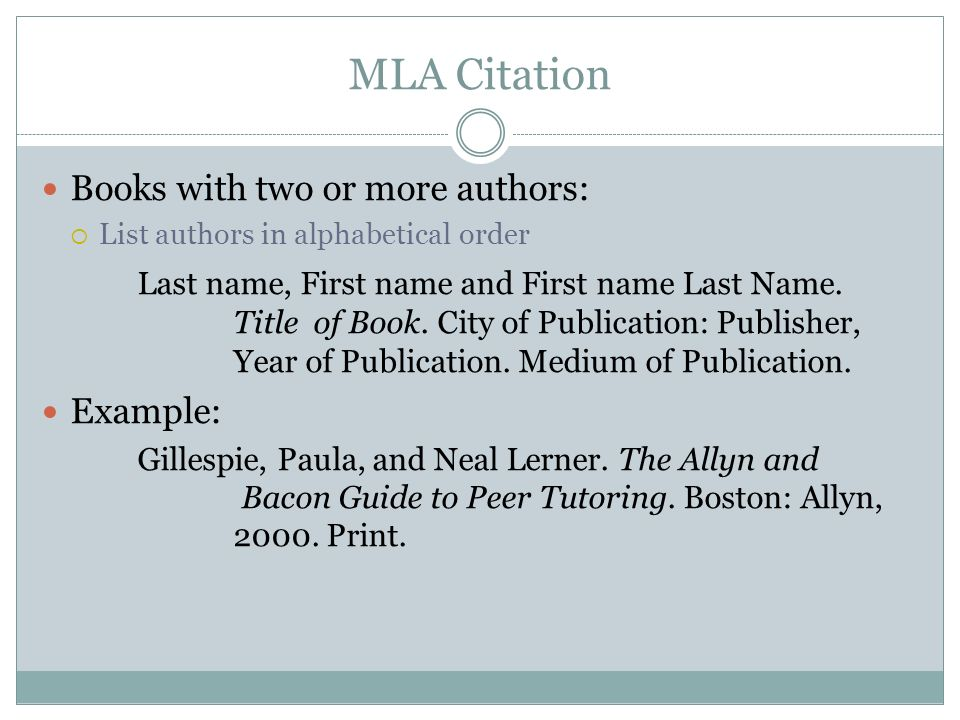 mla format essay with multiple authors Jerz's literacy weblog: step-by-step tips for writing research essays when writing a paper in mla format in word 2010.