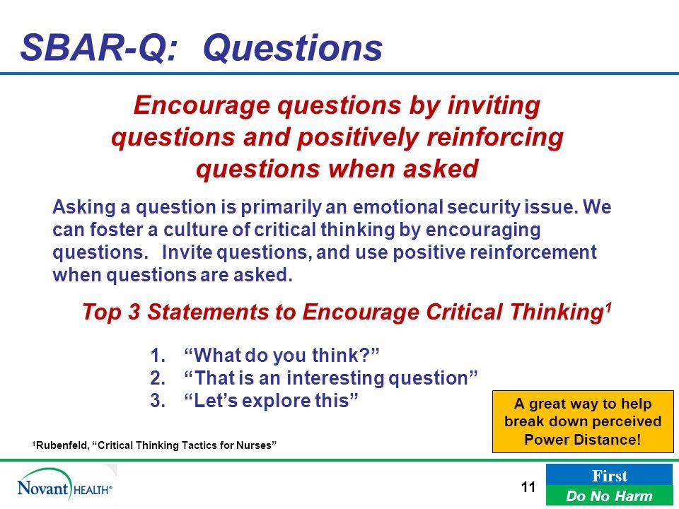 critical thinking nursing questions