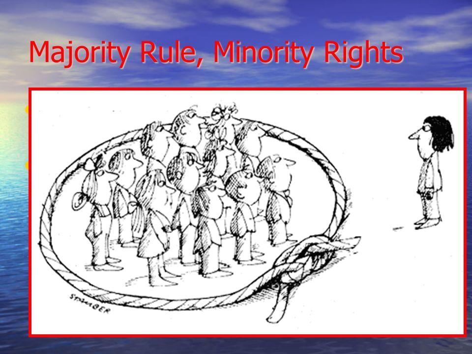 Majority Rule Minority Rights