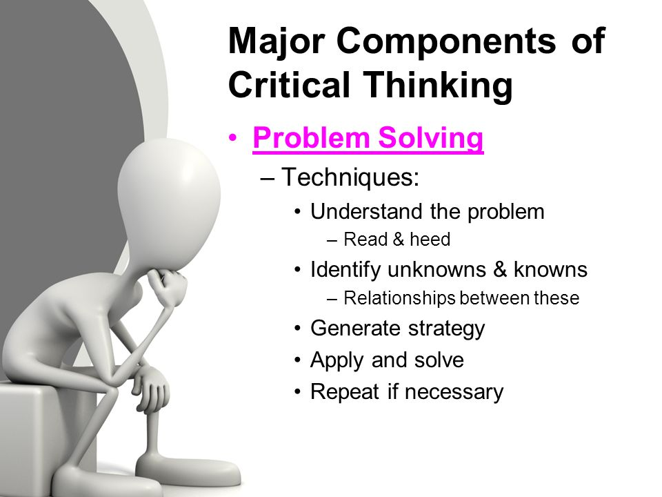 5 components of critical thinking Why critical thinking the number sequences above were recognized by critical thinkers who focused on the quality of numbers and critical enough.