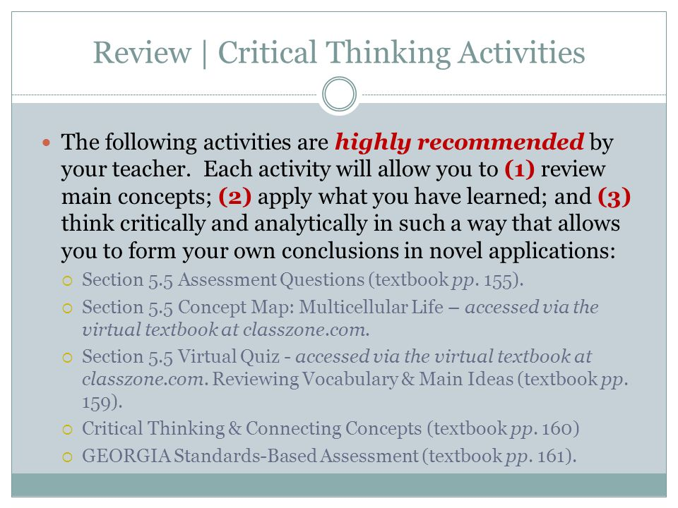 critical thinking review quiz chapter 1 2 3 Quizlet provides critical thinking chapter 3 activities, flashcards and games start learning today for free.