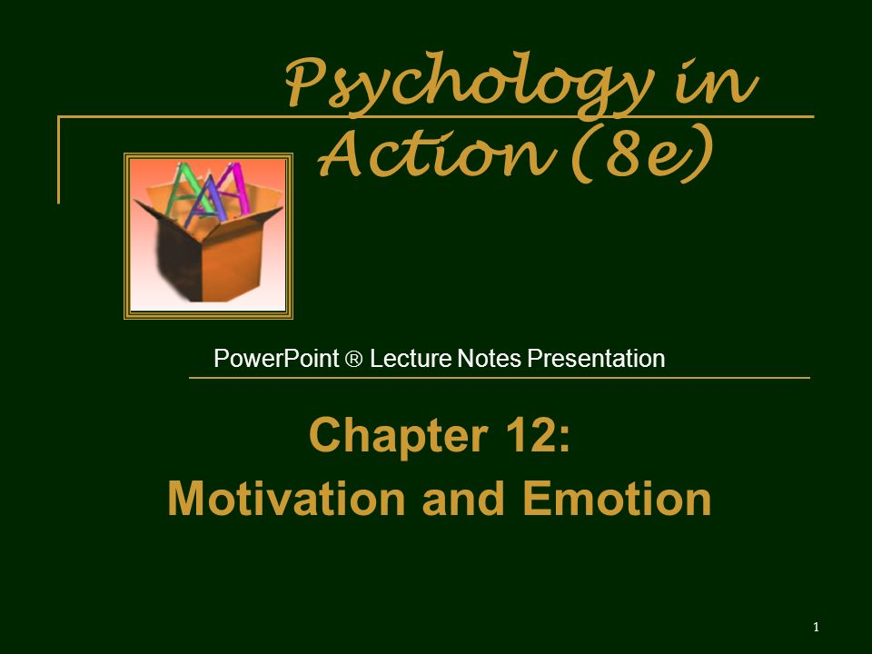 Psychology in Action (8e) - ppt download