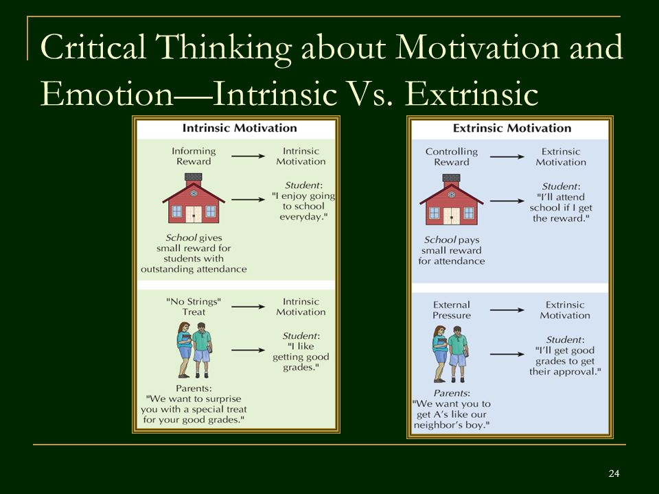 Extrinsic Vs Intrinsic Motivation Psychology in Action (...